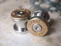 45 bullet ear gauges Bullet Plug Earrings Bullet Shell u pick