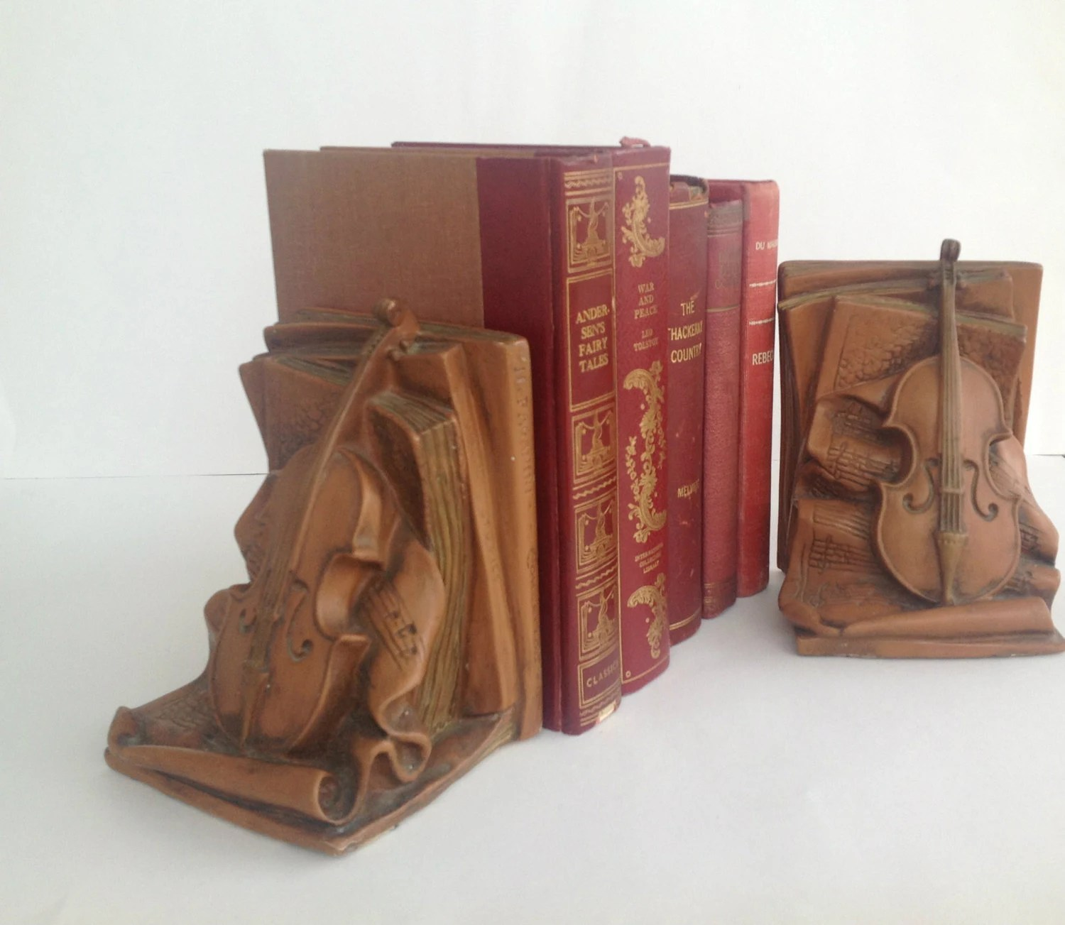 Classic Bookends Vintage Violin Bookends Paganini Book Shelf And Home Decor