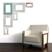 Items similar to Weathered Adhesive Picture Frame Wall