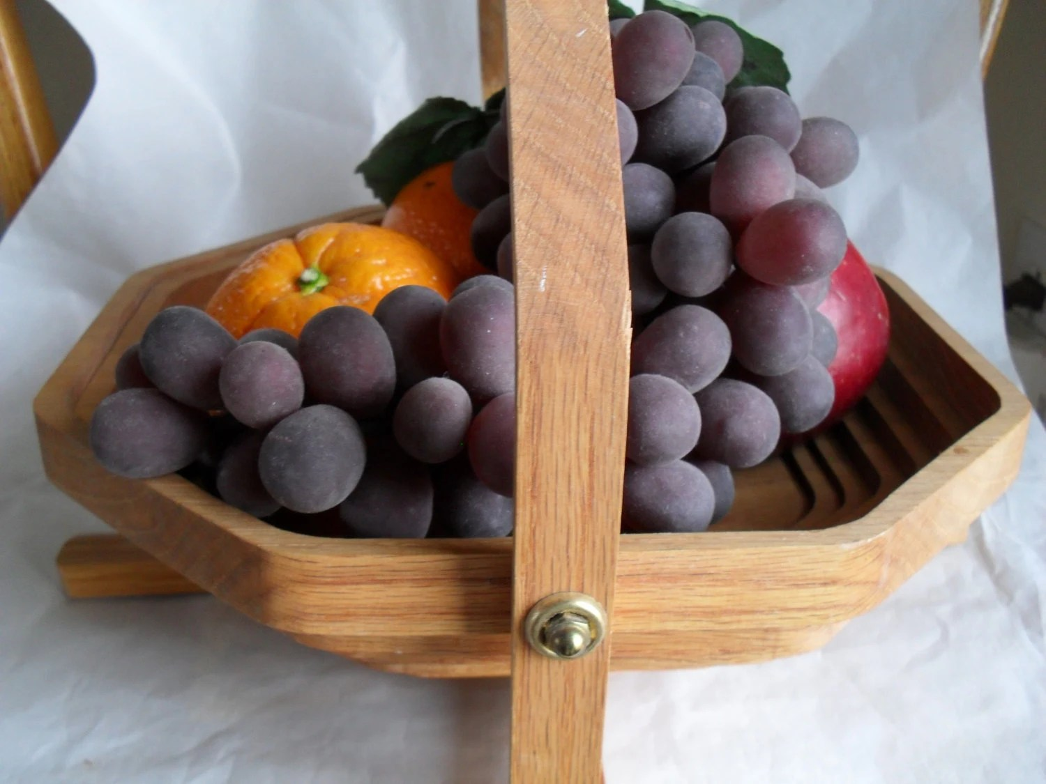 Table Top Fruit Basket Oak Basket Hot Pad Plate Fruit Basket Table Decor