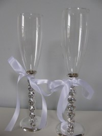 Wedding Cake Serving Set and Toasting Glasses by ...