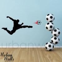 Vinyl Wall Sticker Decal Art Soccer Player