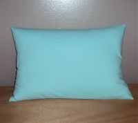 Solid Aqua Cotton Decorative Lumbar Pillow Cover In 3 Sizes