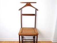 Mid-Century Danish Modern Valet / Butler Chair with Rope Seat