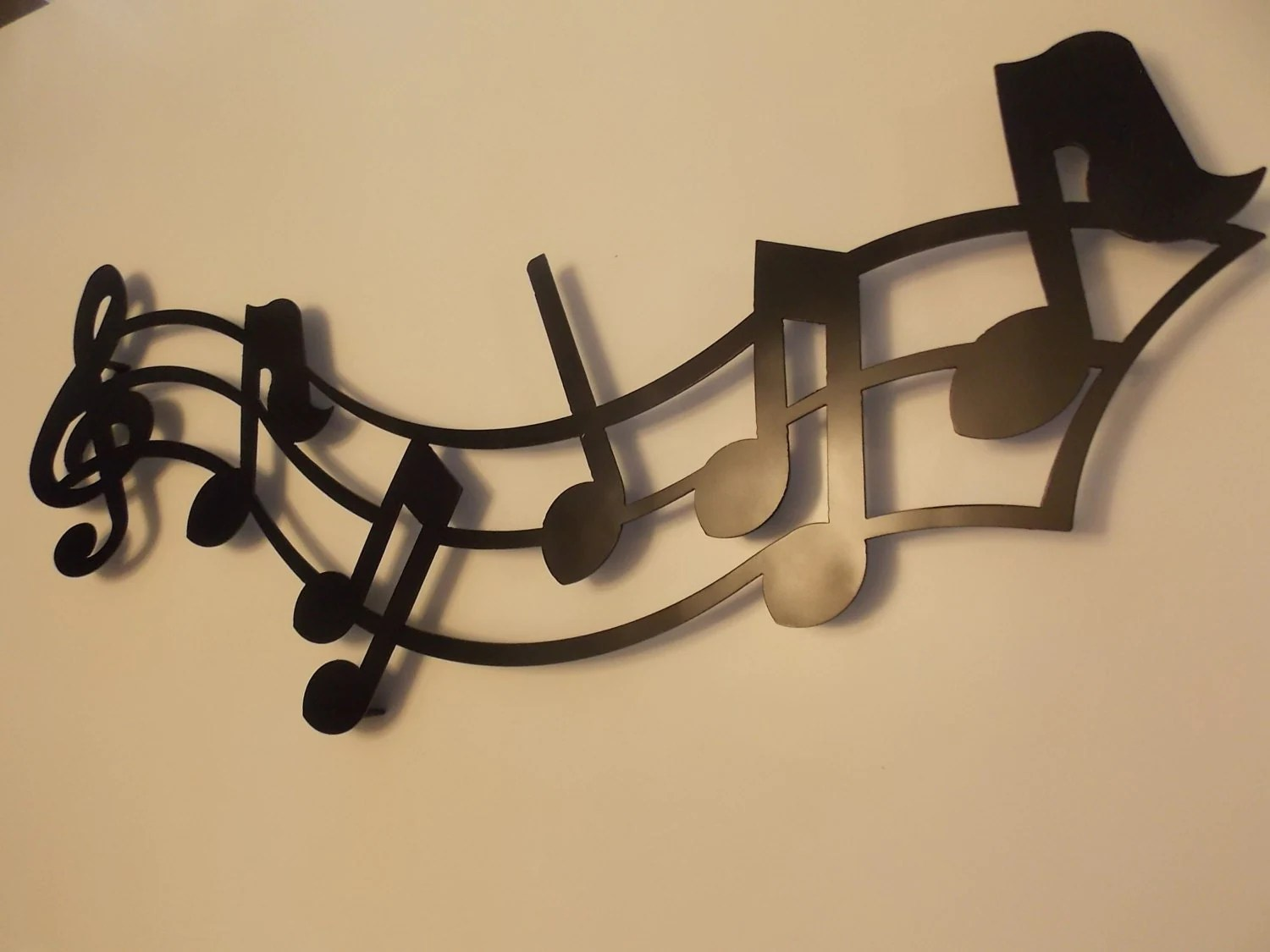 Metal Music Wall Art Musical Notes Metal Wall Art In Black Or By