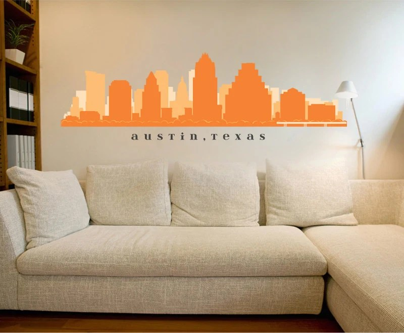 Items Similar To Austin Texas Skyline Wall Decal Art Vinyl