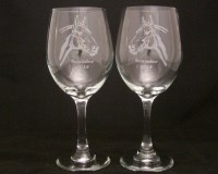 Custom Horse Etched Wine Glasses Mothers day gift Mothers ...