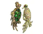 Vintage Exotic Bird Brooc...