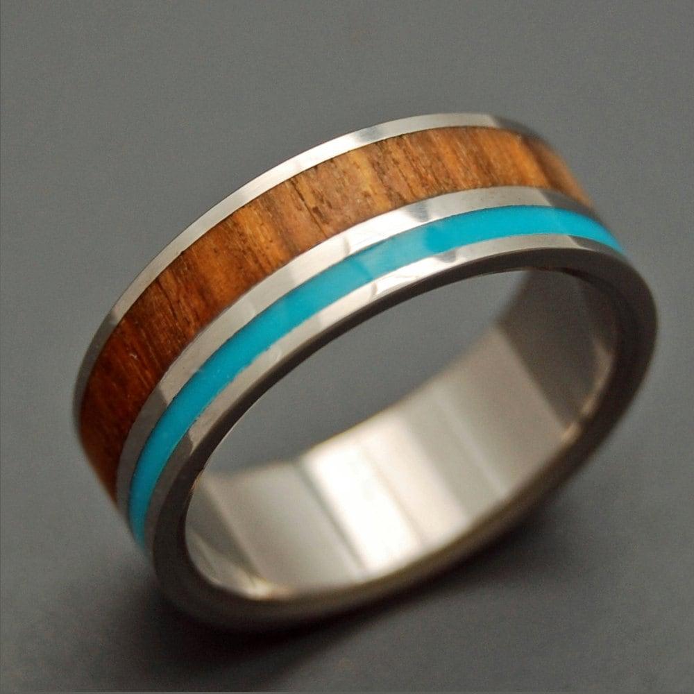 wooden wedding rings titanium ring wooden wedding rings zoom