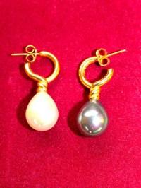 Metropolitan Museum of Art Venus Earrings Pierced Pearl