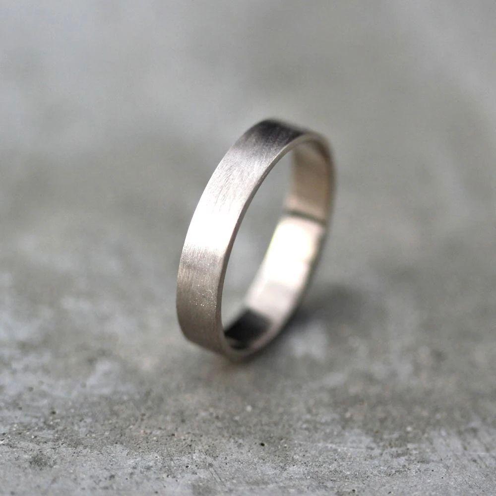 brushed palladium wedding rings brushed gold wedding band Brushed palladium wedding rings Mens Wedding Rings Palladium Men S Gold Wedding Band Unisex 4mm