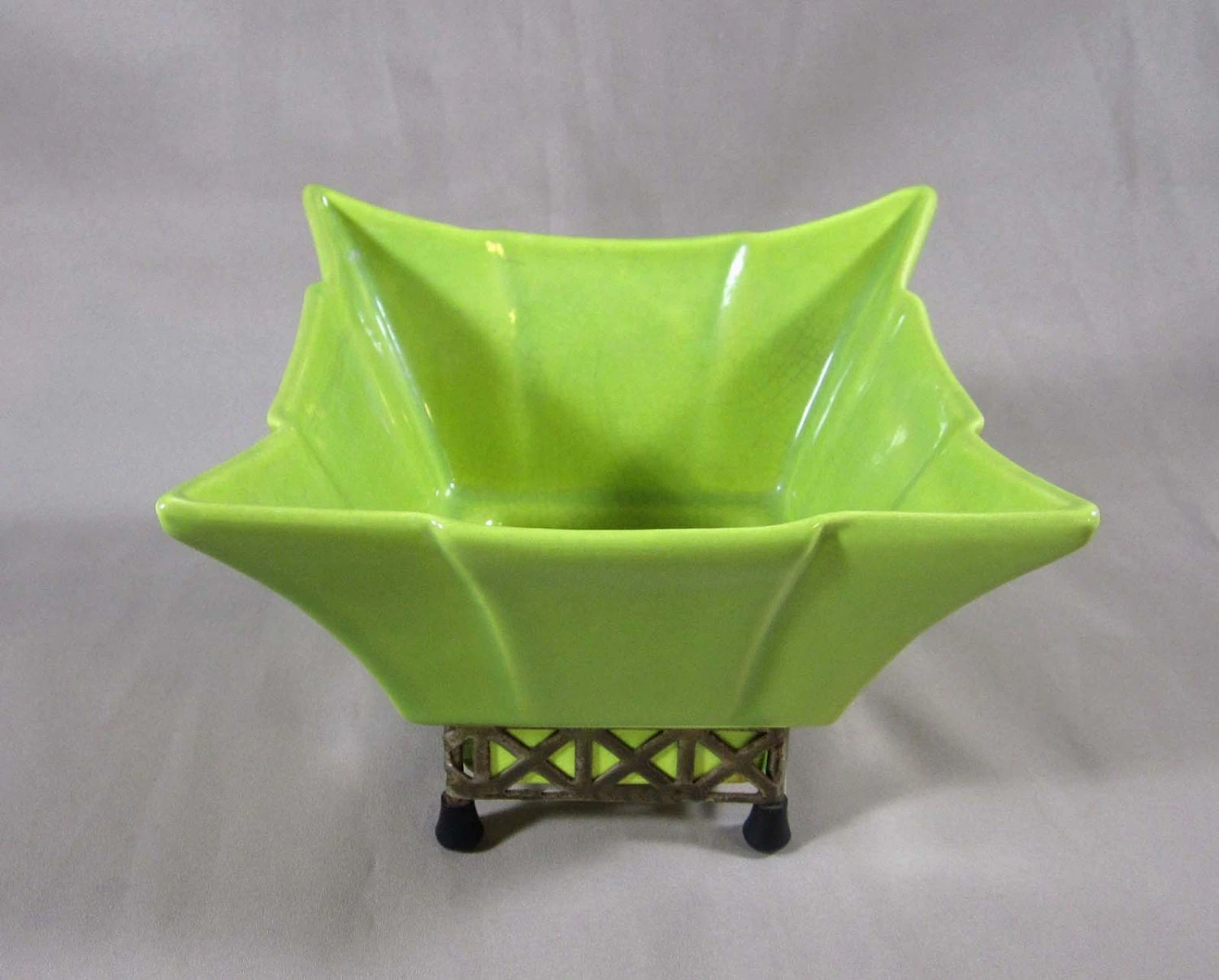 Green Planter Mid Century Planter Gilner Lime Green Planter By