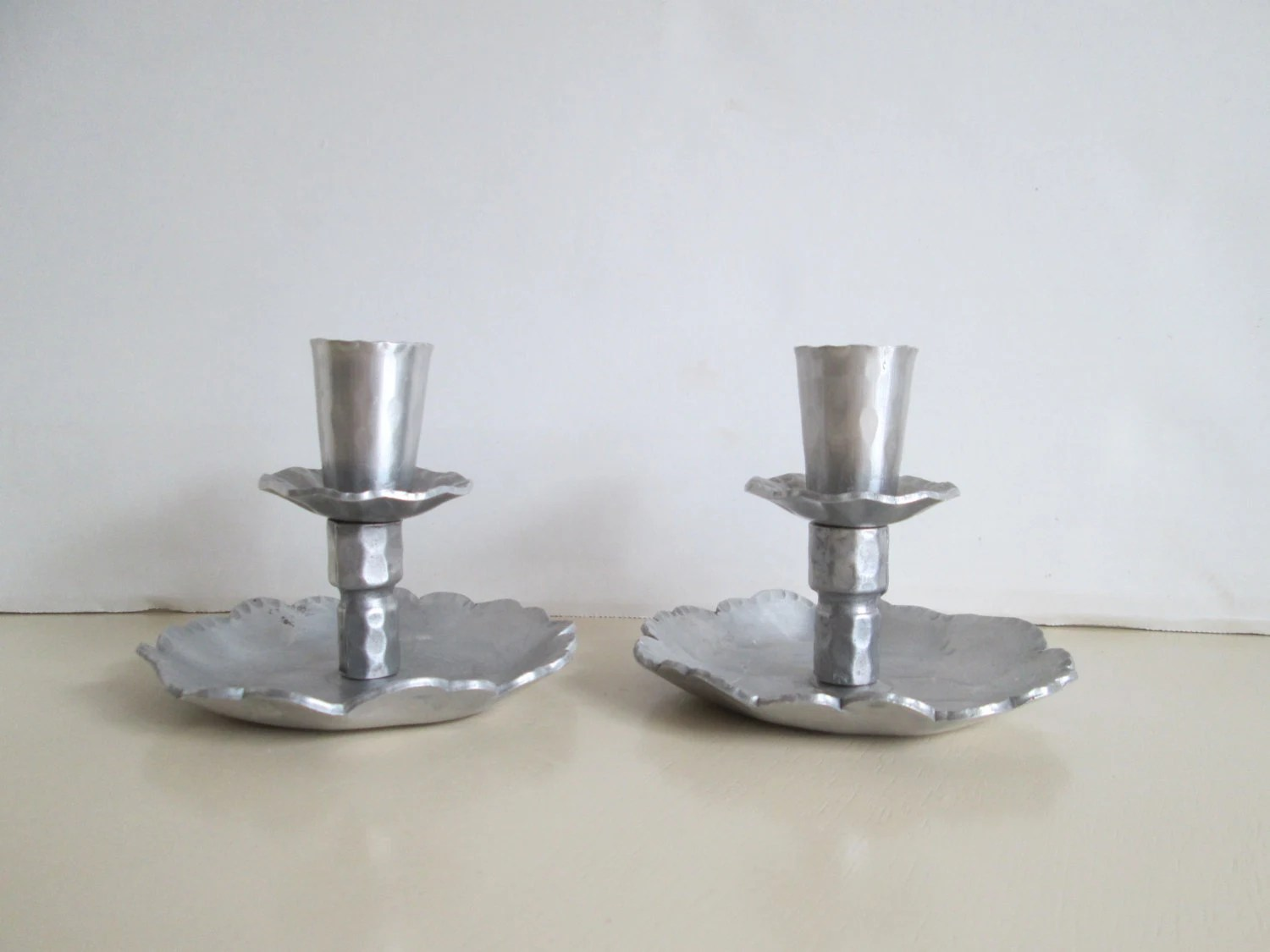 Hand Forged Candle Holders Set Of Two Everlast Metal Aluminum