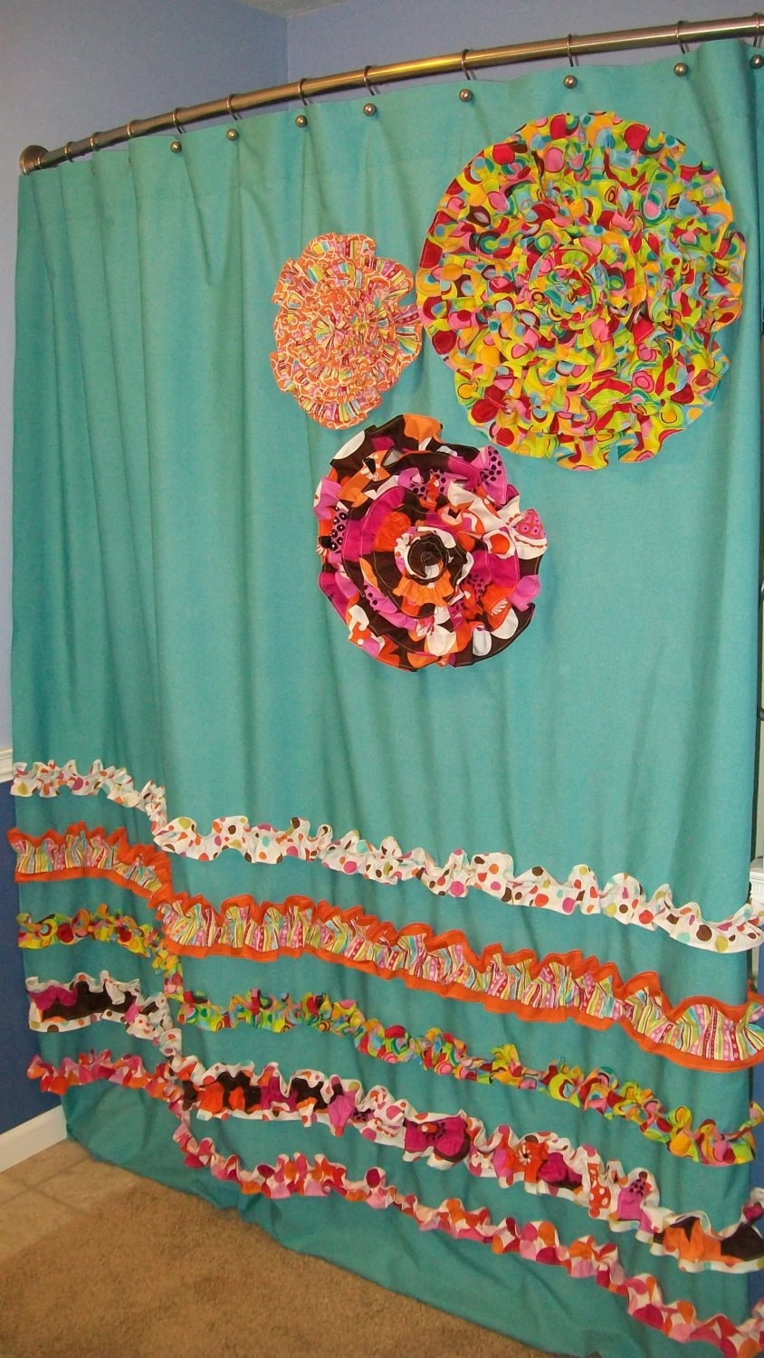 Curtain Fabric Items Similar To Shower Curtain Custom Made Designer