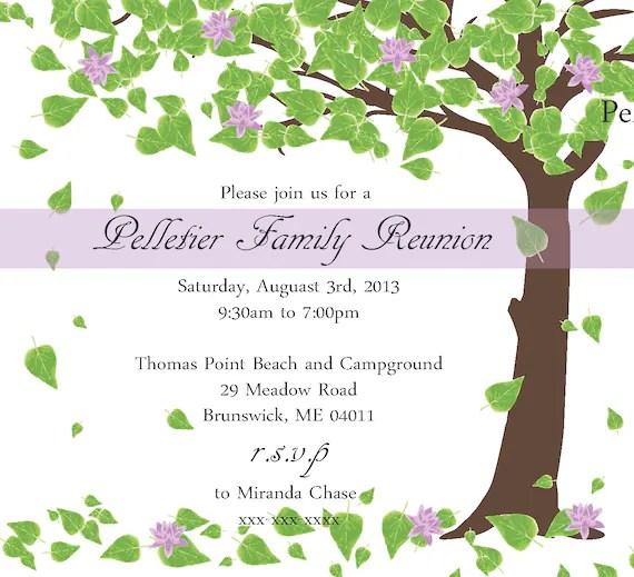 Class Reunion Invitation Templates Sample Service – Family Gathering Invitation Wording