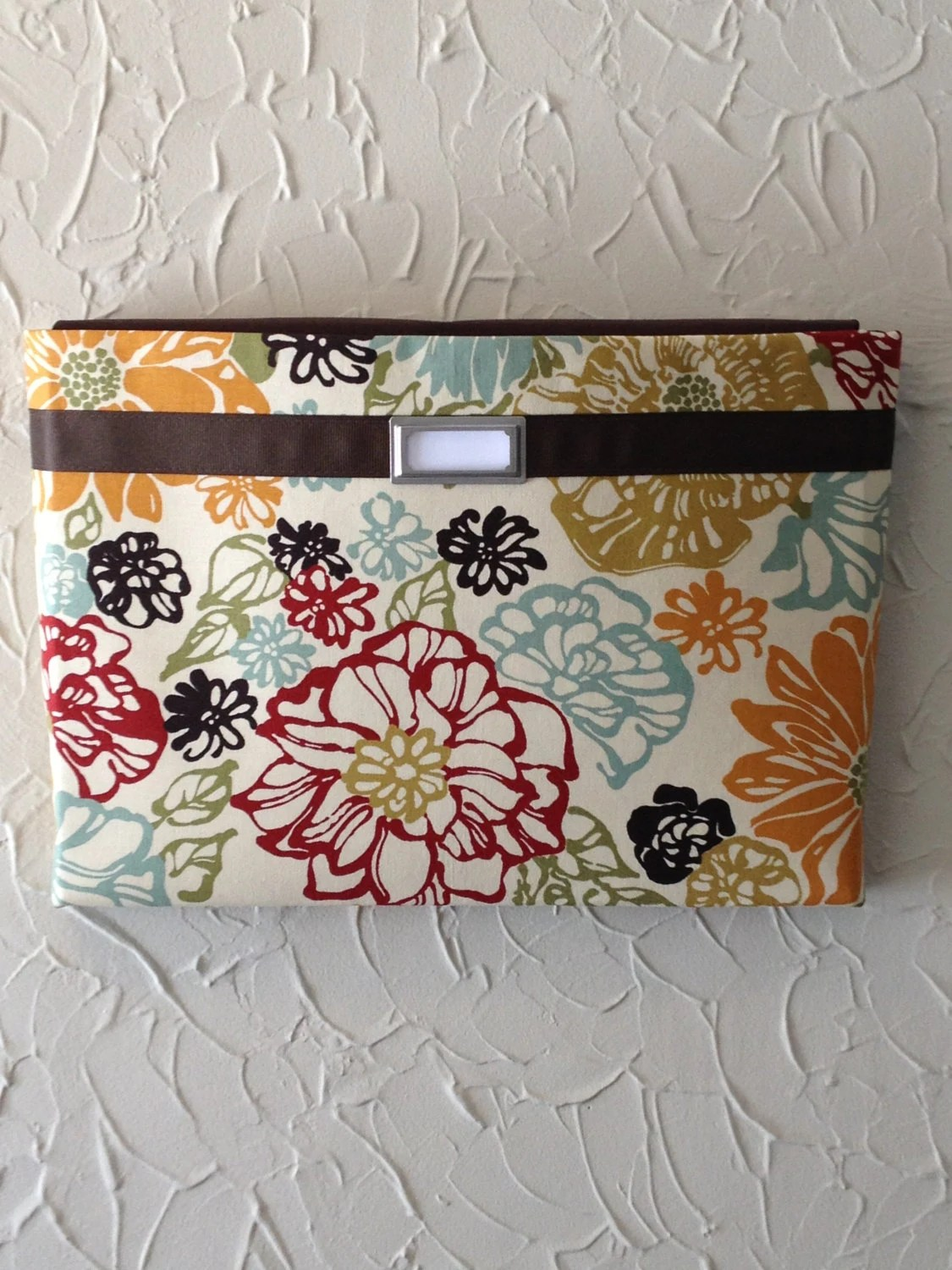 Magazine File Holder Items Similar To Fabric Wall Pockets With One Pocket