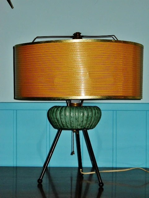 Table Lamp Tripod Atomic Age Table Lamp Mid Century Modern Space Age Retro