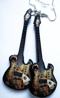 Black Veil Brides Jinxx guitar earrings