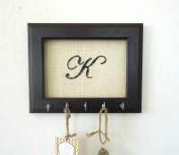 Key Holder Wall Hook Personalized Gift Frame by TheHopeStack