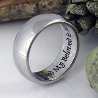 I Am My Beloved Wedding Band Promise Ring Stainless by Tzaro