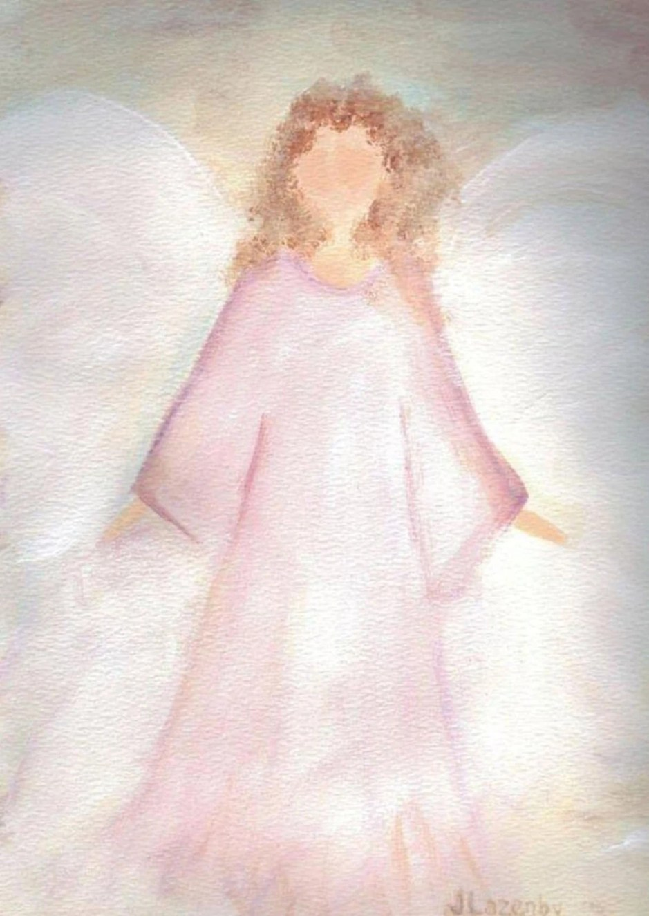Angel notecards original ...