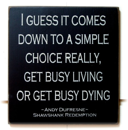 Quotes Shawshank Redemption Get Busy Living