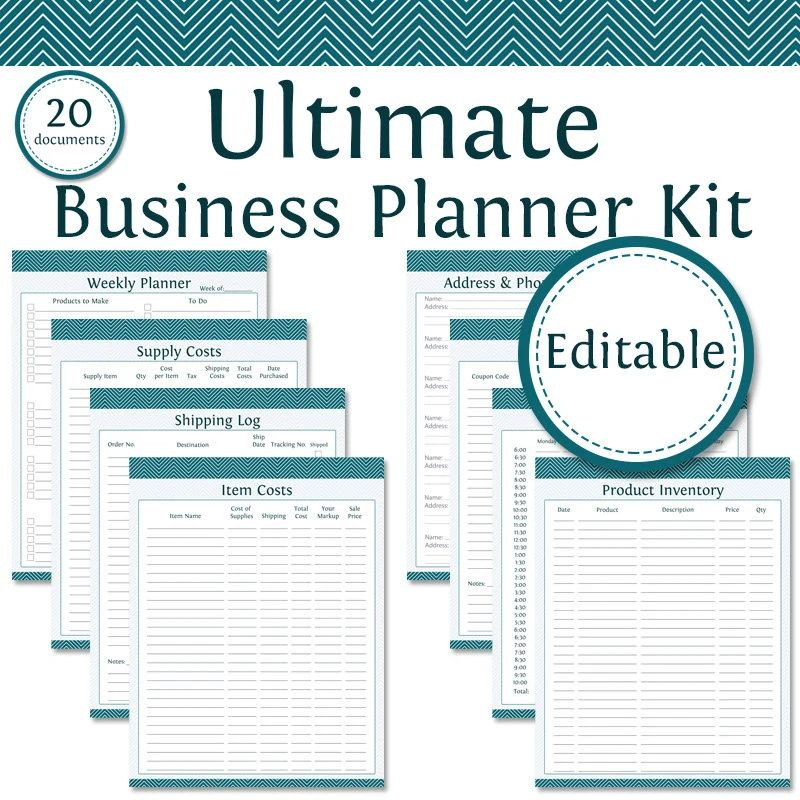 fillable weekly planner