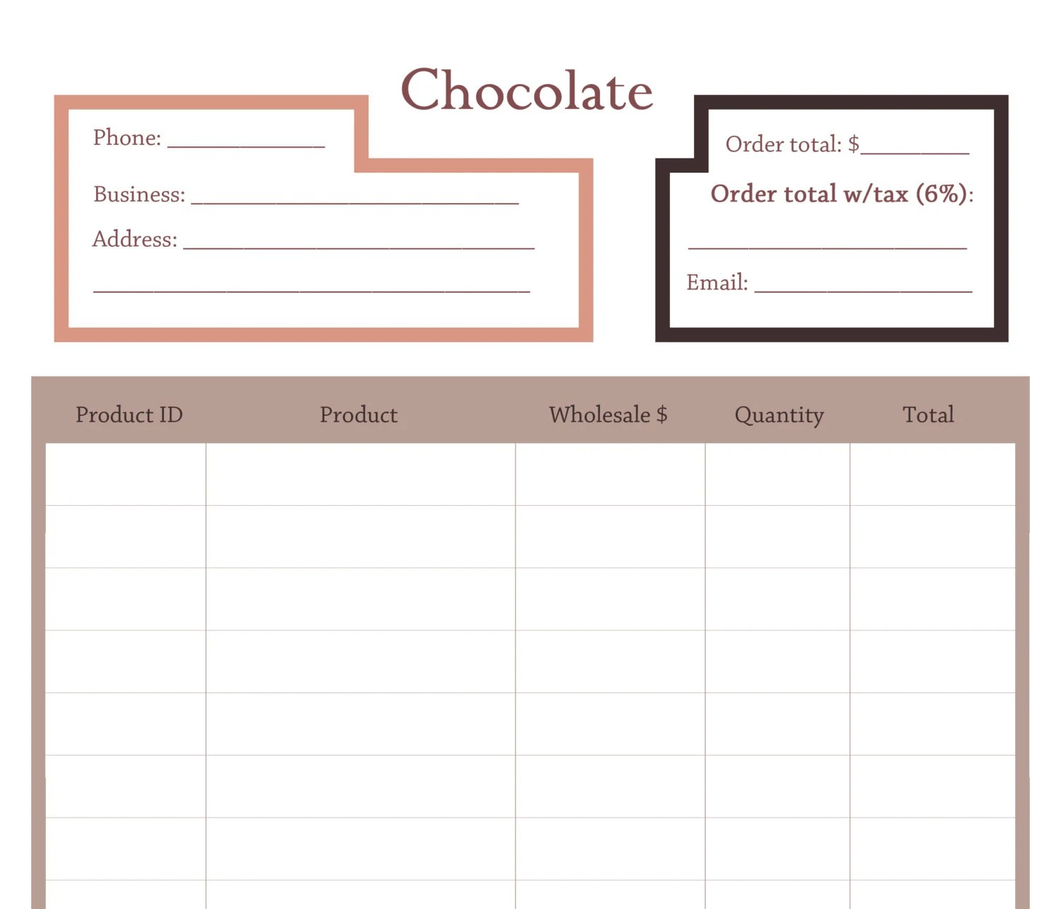 Simple Order Form Add New Form How To Create A Simple Order Form In