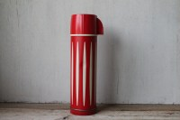 Vintage Retro Red & White Striped Thermos by ...