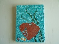 Fan Coral Mosaic Art wall hanging by cactuscountry on Etsy