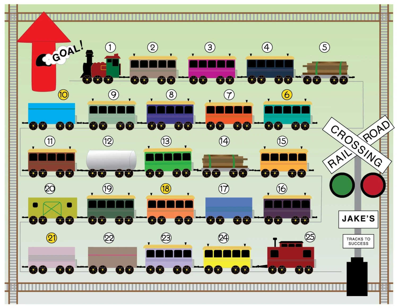 Items similar to Printable Reward Chart for Kids - Get on Board - free printable reward charts for kids
