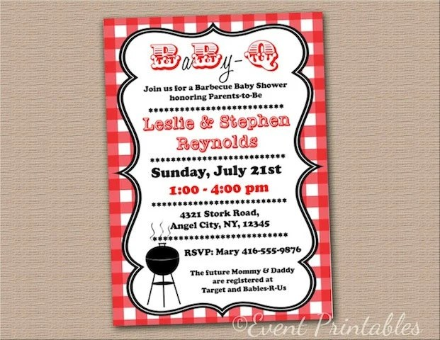 free bbq invitation templates - baby shower invitations templates free