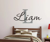 Baby Boy Nursery Wall Decor // Boy Name Wall Decal // Boys