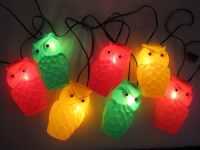 Original Blow Mold Owl Patio String Lights Vintage