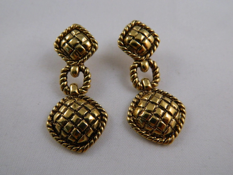 Gold Avon Earrings / Vintage 1960's Earrings / Avon