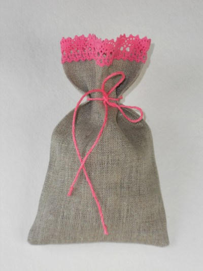 Lace And Burlap Wedding Favor Bags
