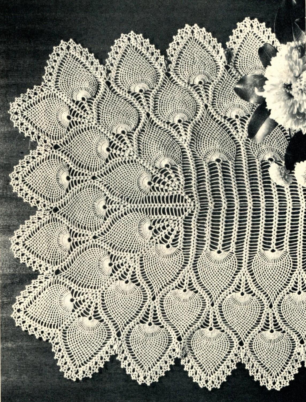 194039s Pineapple Crochet Table Runner Pattern By Pearlshorecat