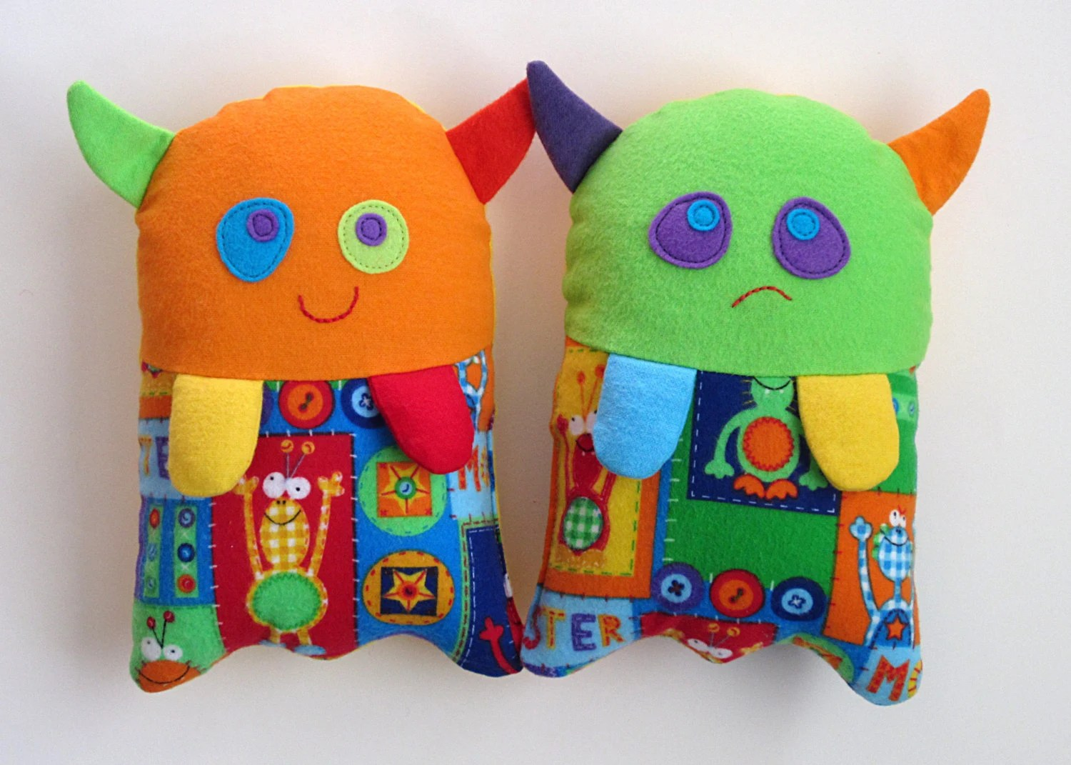 Toy Monster Stuffed Monster Toy Pattern Pdf Sewing Pattern For Plush