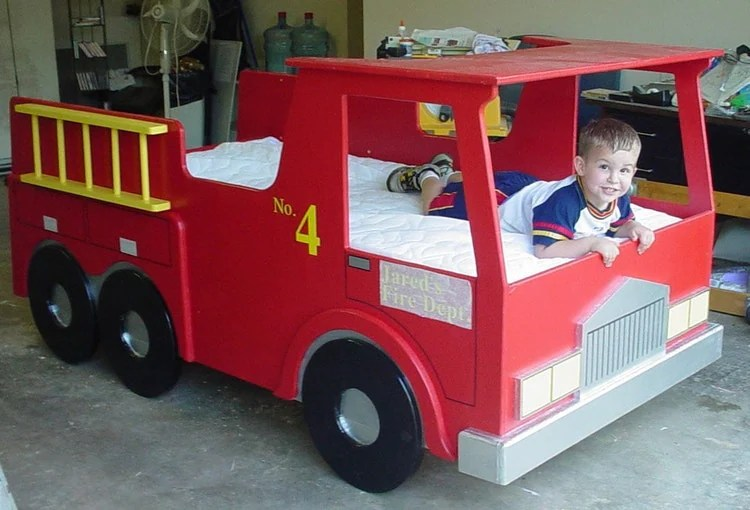Tumblr Bett Digital Download: Fire Truck Twin Size Bed By Plans4wood