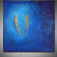 Romantic Art SOULMATES Love Painting Oil Abstract Art by