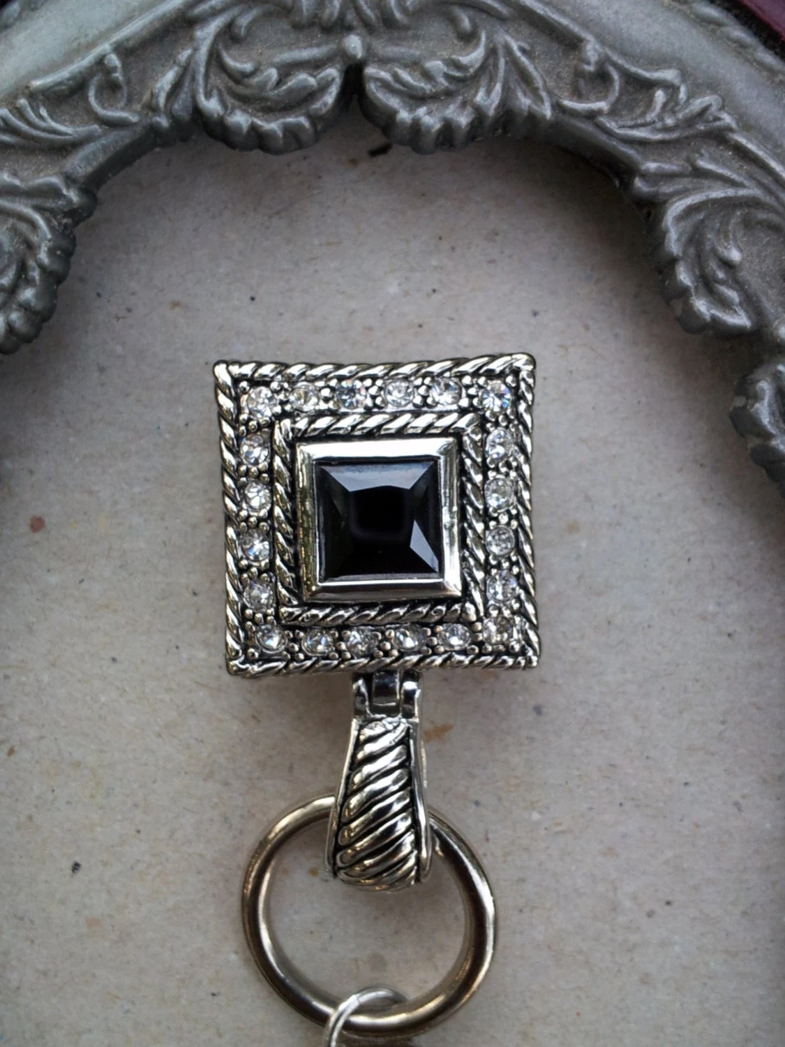 Beautiful Bling Magnetic Jewelry Badge Holder Lanyard And
