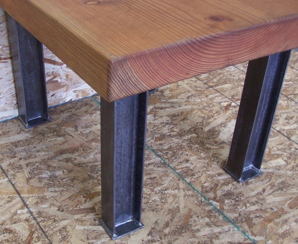 industrial desk or dining table legs industrial kitchen table Industrial Desk or Dining Table Legs Heavy Structural Steel zoom