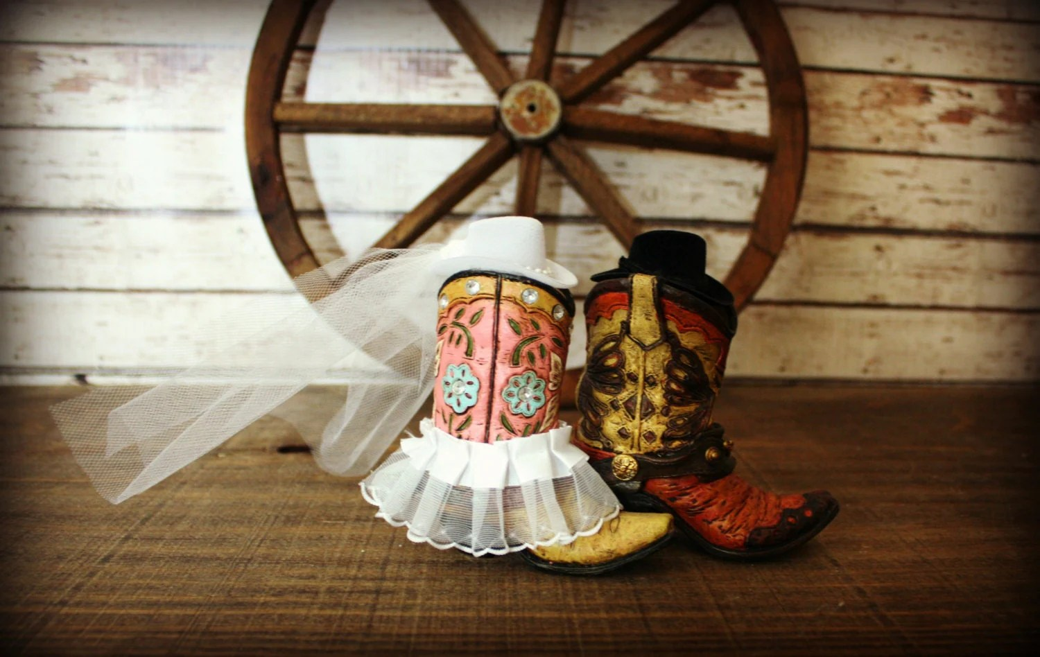 cowboy boots wedding cake topper western wedding cowboy boots zoom