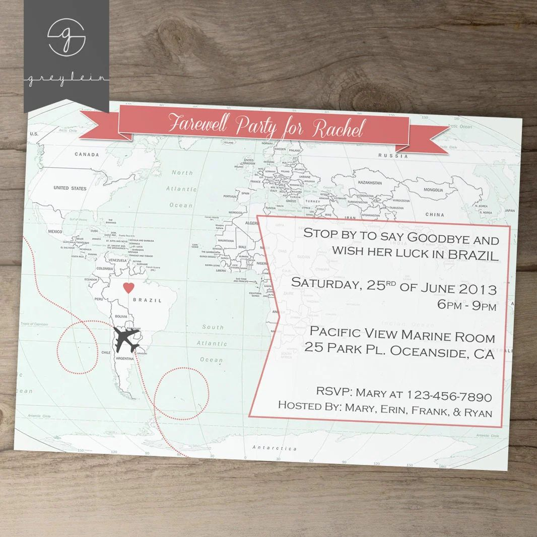 going away party invites