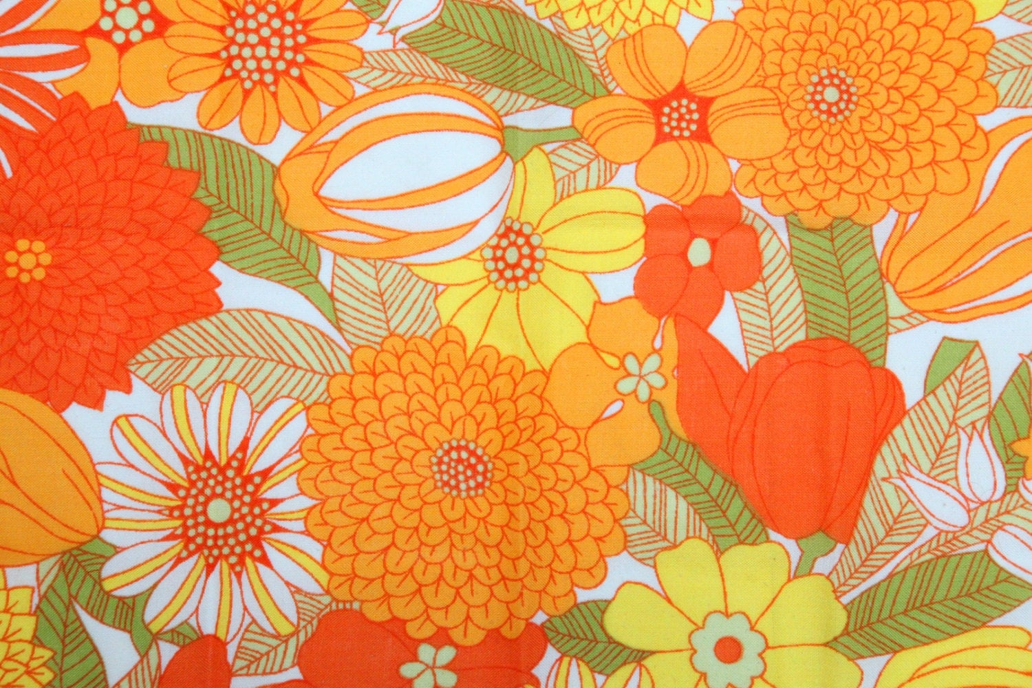 Lilly Pulitzer Wallpaper Fall Vintage 70s Yellow Orange And Green Floral By