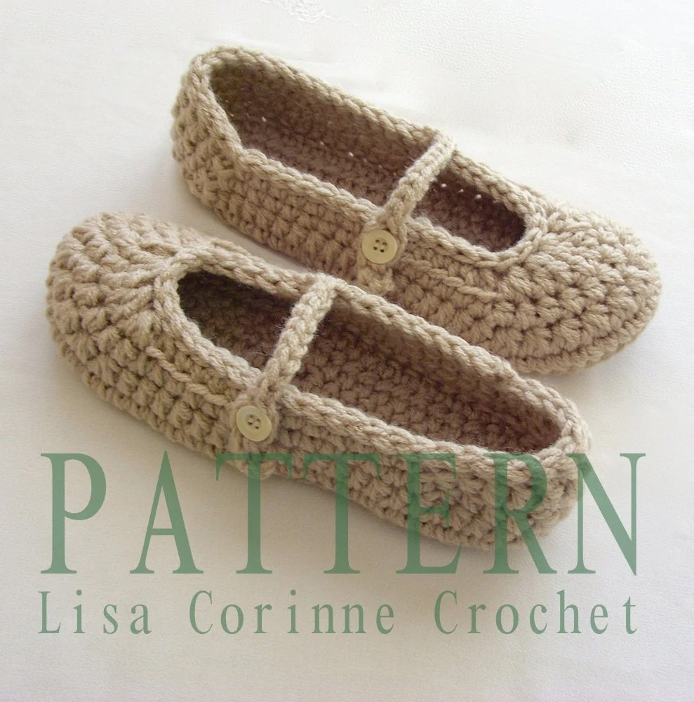 Free Crochet Patterns For Womens House Slippers Dancox For