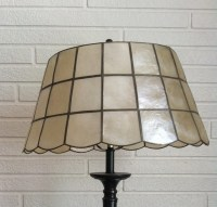 Items similar to Vintage Capiz Shell Lamp Shade on Etsy