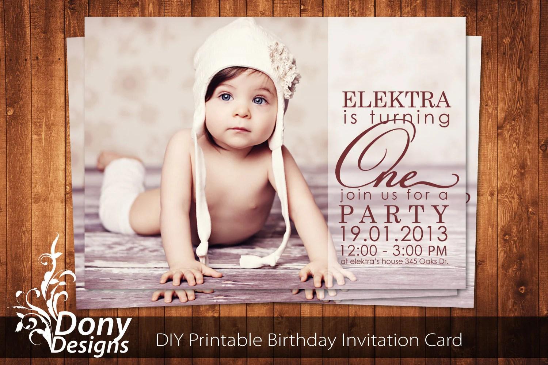 Buy 1 Get 1 Free Photo Birthday Invitation Photocard Photoshop
