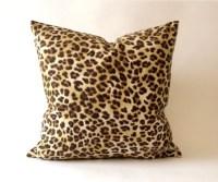 Leopard Print Decorative Pillow Cover Medium by NoraQuinonez