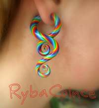 Fake ear gauge / Faux gauge/Gauge earrings / fake piercing